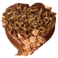 Chocolate Heart Cake by David Leslie