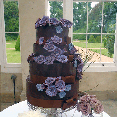 Chocolate Wedding Cake by David Leslie